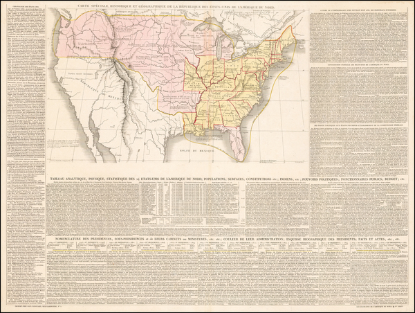 46-United States Map By Jules Renouard