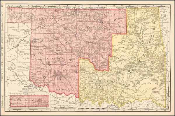 8-Plains, Oklahoma & Indian Territory and Southwest Map By Rand McNally & Company