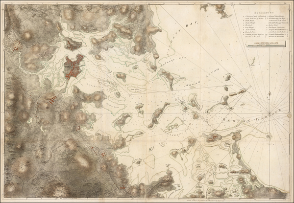 20-Massachusetts, Mid-Atlantic and Boston Map By Joseph Frederick Wallet Des Barres