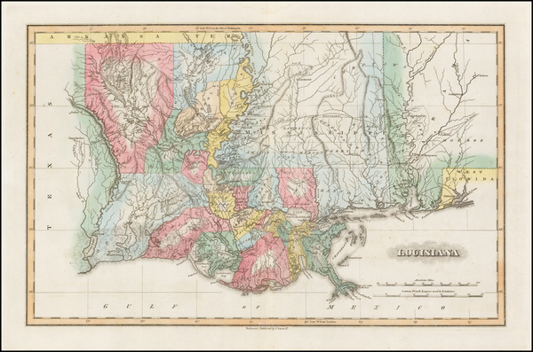 78-Louisiana and Southeast Map By Fielding Lucas Jr.