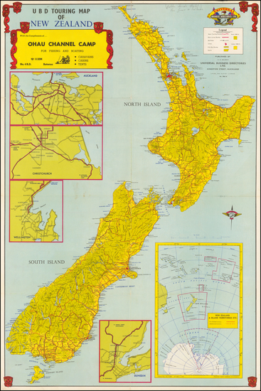 66-New Zealand Map By Universal Maps