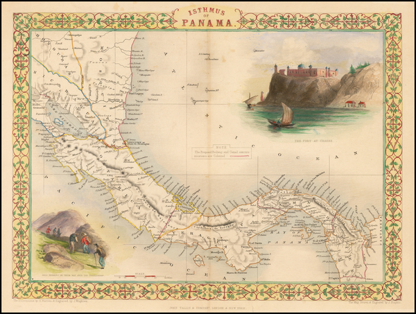 12-Central America Map By John Tallis