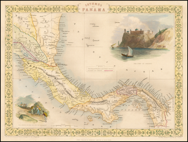 29-Central America Map By John Tallis