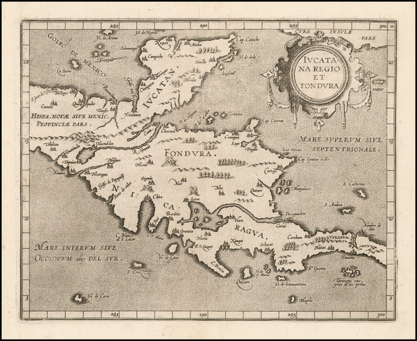 70-Mexico and Central America Map By Cornelis van Wytfliet