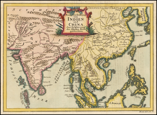 China, India, Southeast Asia and Philippines Map By Durenu