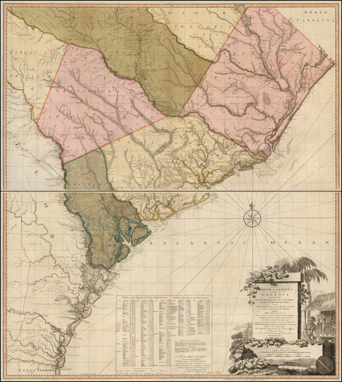 93-Southeast and South Carolina Map By William Faden / William Gerard De Brahm / John  Stuart