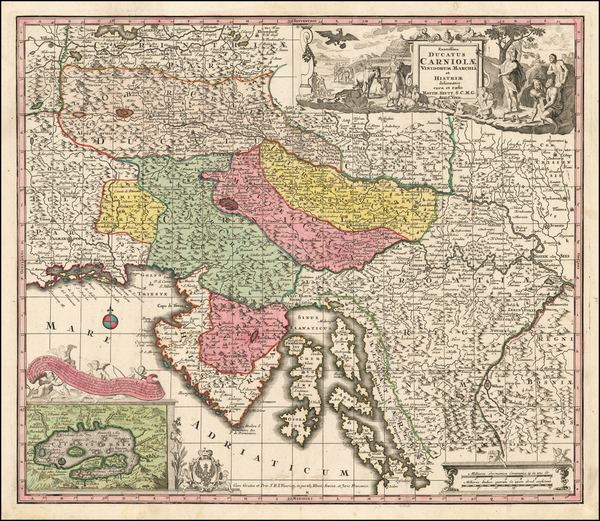 74-Austria and Balkans Map By Matthaus Seutter