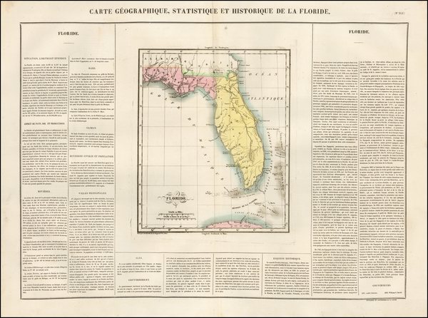 74-Florida Map By Jean Alexandre Buchon