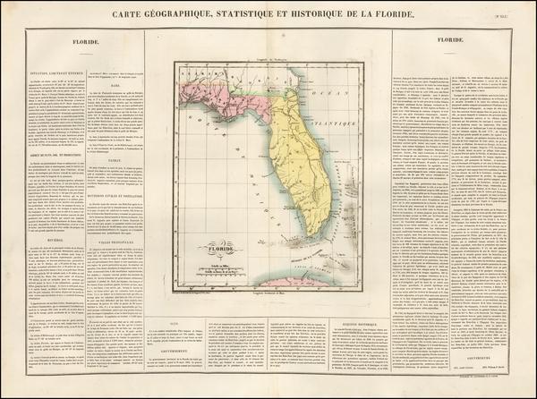 51-Florida Map By Jean Alexandre Buchon