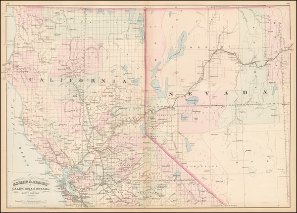53-Nevada and California Map By Asher  &  Adams