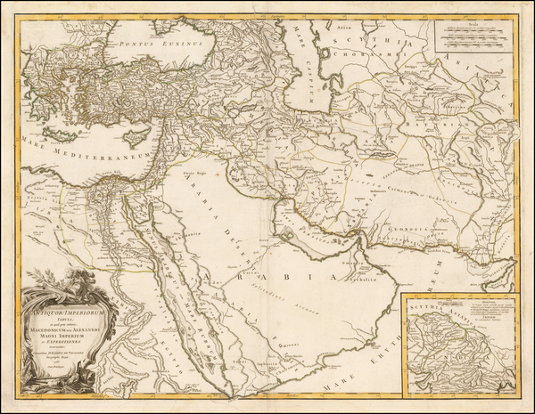 Central Asia & Caucasus, Middle East and Turkey & Asia Minor Map By Didier Robert de Vaugondy