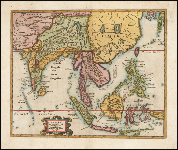 China, India & Sri Lanka, Southeast Asia, Philippines and Other Islands Map By Philipp Clüver