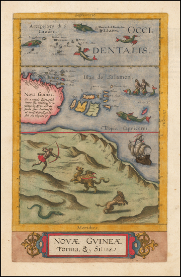 97-Australia and Other Pacific Islands Map By Cornelis de Jode