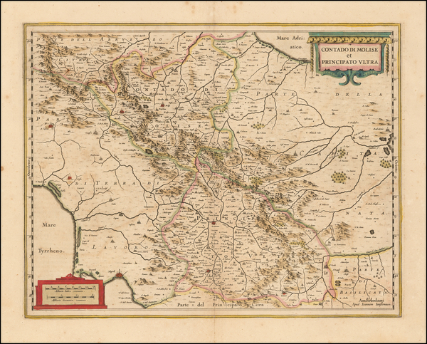 8-Italy Map By Henricus Hondius