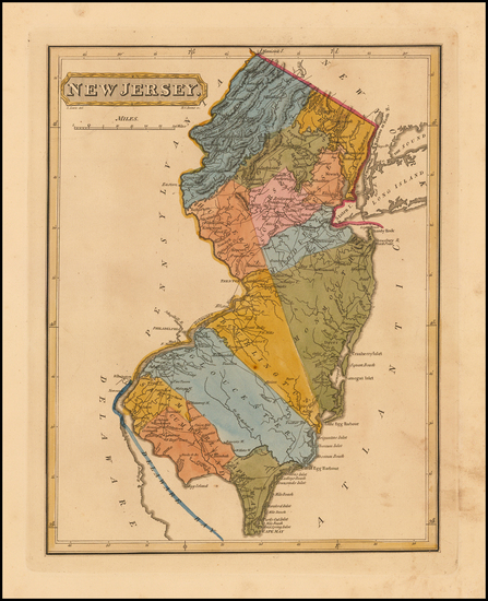 32-New Jersey Map By Fielding Lucas Jr.