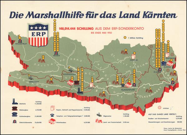 22-Austria Map By Artaria & Co. / Freytag & Berndt