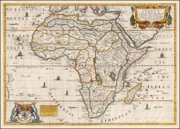 57-Africa and Africa Map By Richard Blome