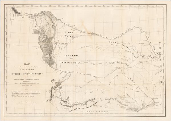 47-Kansas, Oklahoma & Indian Territory, Southwest and Rocky Mountains Map By United States Bur