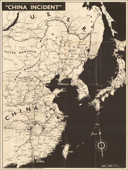 15-China and World War II Map By Army Bureau of Current Affairs