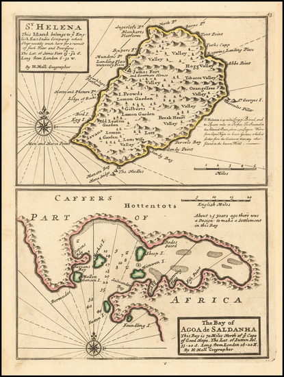 87-African Islands, including Madagascar Map By Herman Moll