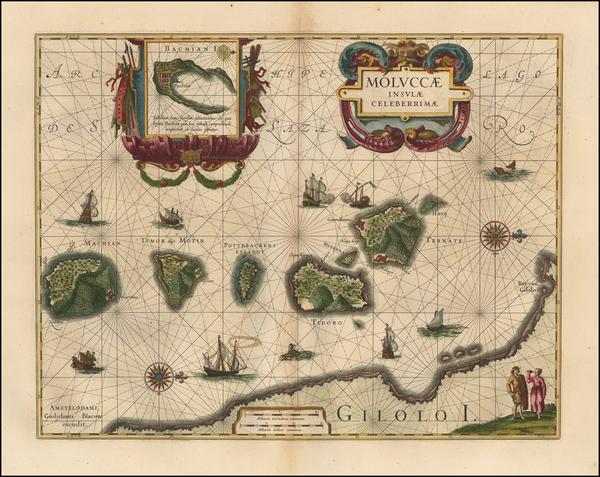 54-Indonesia and Other Islands Map By Willem Janszoon Blaeu