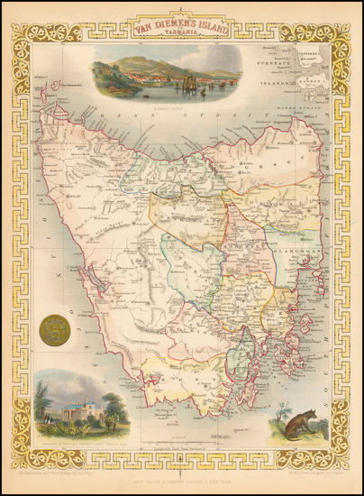 50-Australia Map By John Tallis