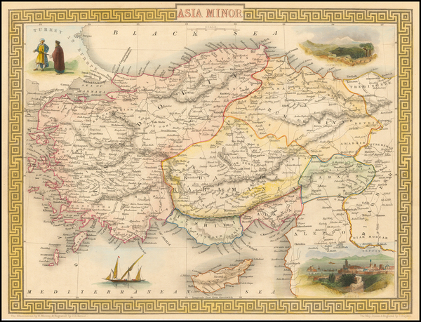 23-Turkey, Turkey & Asia Minor and Balearic Islands Map By John Tallis