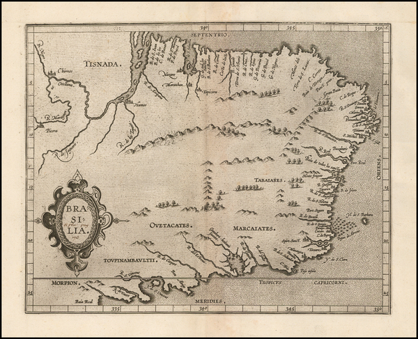 Brazil Map By Cornelis van Wytfliet