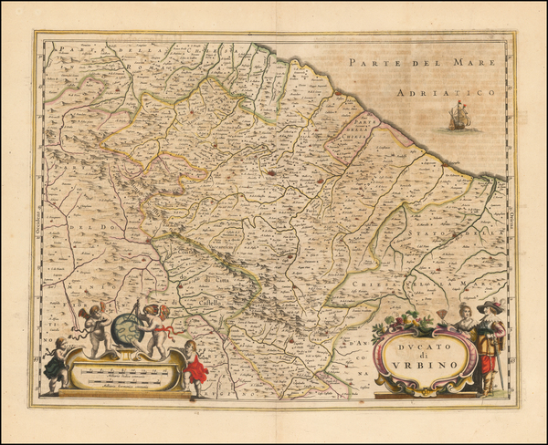 12-Italy Map By Willem Janszoon Blaeu