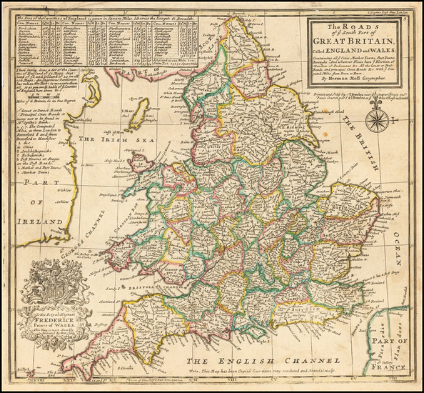 27-England Map By Herman Moll