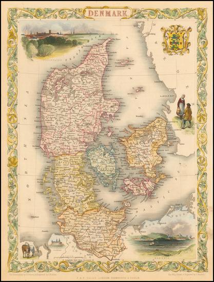 98-Scandinavia Map By John Tallis