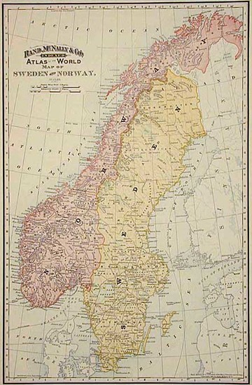 5-Europe and Scandinavia Map By William Rand  &  Andrew McNally