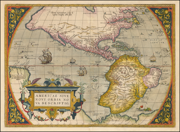 25-Western Hemisphere, South America and America Map By Abraham Ortelius