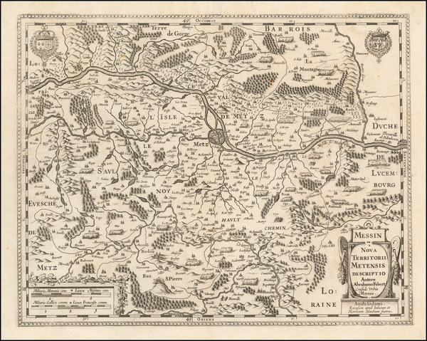 79-France Map By Jodocus Hondius  &  Henricus Hondius