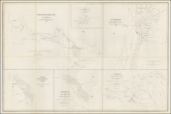 54-California and San Francisco & Bay Area Map By Cadwalader Ringgold