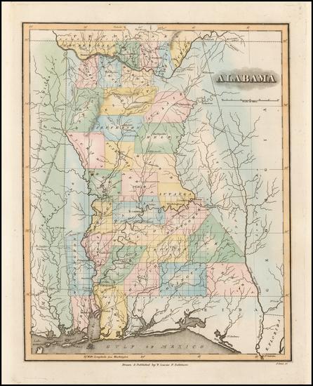 98-Alabama Map By Fielding Lucas Jr.