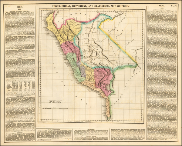 57-South America and Peru & Ecuador Map By Henry Charles Carey  &  Isaac Lea