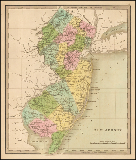 45-New Jersey Map By Jeremiah Greenleaf