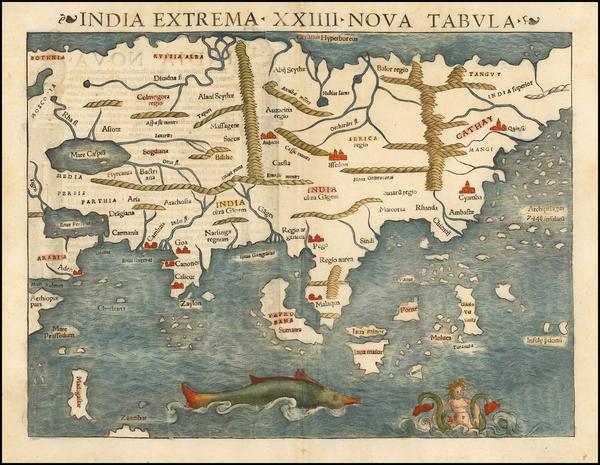 100-Asia Map By Sebastian Munster