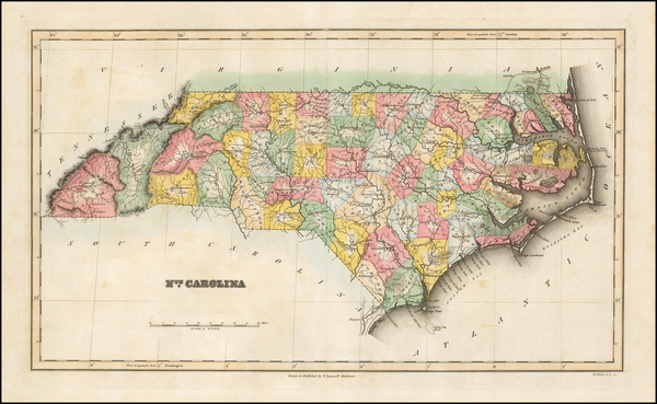 63-Southeast and North Carolina Map By Fielding Lucas Jr.