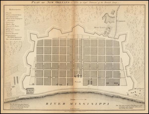 0-South and Louisiana Map By Sarony & Major