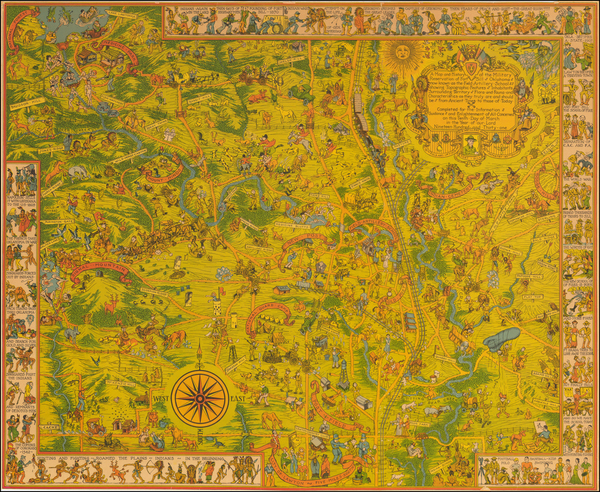 61-Plains, Oklahoma & Indian Territory and Southwest Map By Frank Dorn