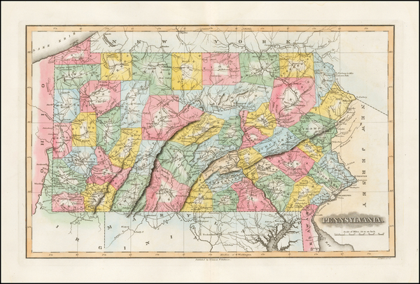 25-Mid-Atlantic and Pennsylvania Map By Fielding Lucas Jr.