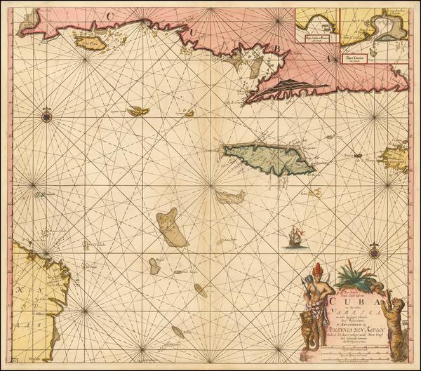 33-Caribbean Map By Johannes Van Keulen