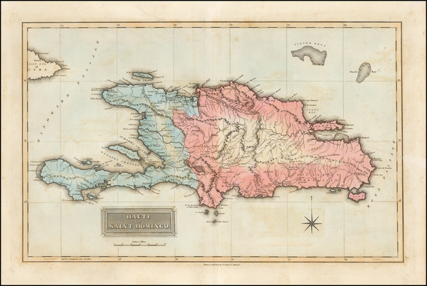 19-Hispaniola Map By Fielding Lucas Jr.