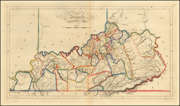 89-South and Kentucky Map By