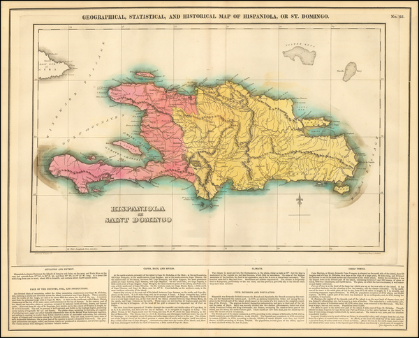 0-Caribbean and Hispaniola Map By Henry Charles Carey  &  Isaac Lea