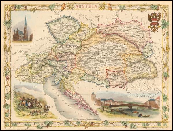 100-Austria Map By John Tallis