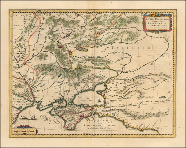 78-Russia, Ukraine and Russia in Asia Map By Willem Janszoon Blaeu