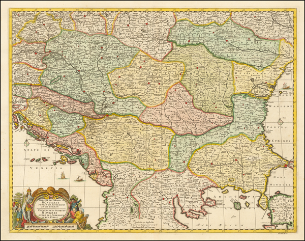 Hungary, Romania and Balkans Map By Gerrit van Schagen